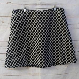 Boden Polka Dot A Line Skirt Lined Polka Dot Wool
